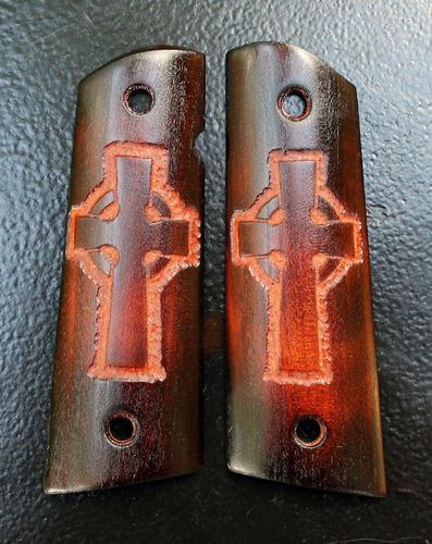 Scorched Black Cherry Celtic Cross