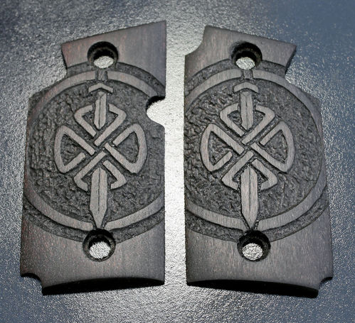 Celtic Shield Knot and Sword, black
