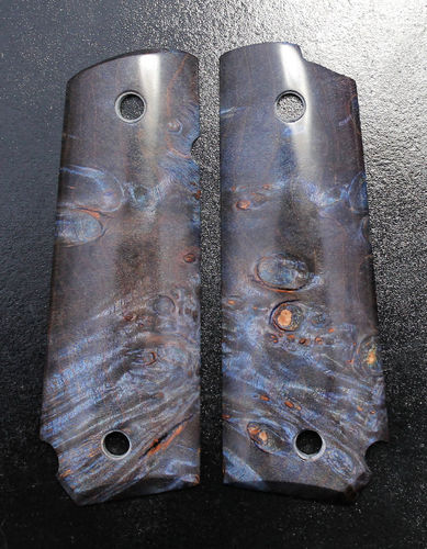 stabilized Maple burl, blue  SOLD