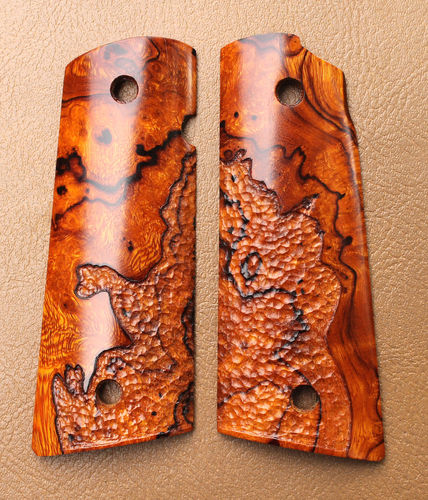 Desert Ironwood burl, Les Baer cut, organic stipple  SOLD
