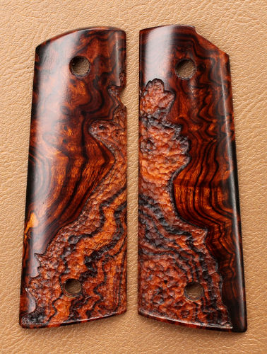 Desert Ironwood burl, grain-following stipple  SOLD