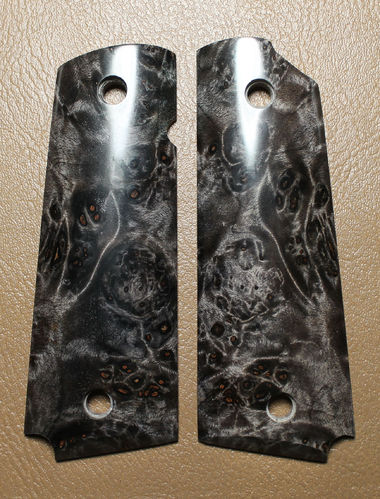 Stabilized Maple burl, black  SOLD
