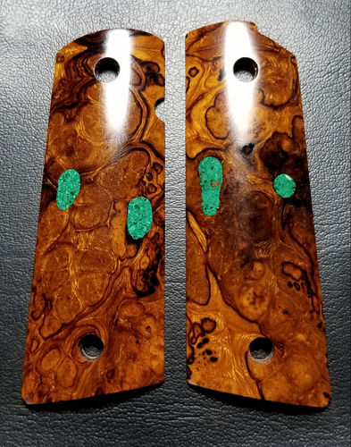 Desert Ironwood burl with Turquoise  SOLD