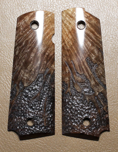"SOLD  Figured Black Walnut, ""organic"" stipple RAPTOR II"