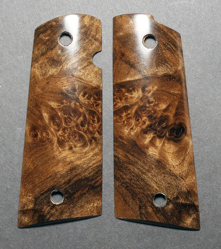 "stabilized Circassian Walnut burl, ""Les Baer"" cut  SOLD"