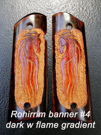 Rohirrim banner #4, dark with flame gradient horse\\n\\n1/19/2016 6:17 PM