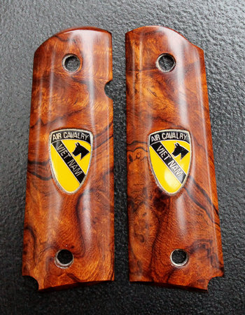 Desert Ironwood burl with 1st Cavalry Vietnam pins inlaid. Thanks, Paul A.!\\n\\n1/19/2016 11:53 AM